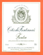 étiquette De Vin Cotes Du Frontonnais Fronton 1998 Caves à Fronton - 100 Cl - Vin De Pays D'Oc