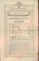 "~1895 ,,Der Almfriede"" Kärnthner Nationalkonzert Programm - Programmes"