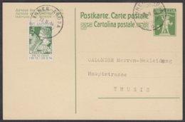 LETZTAG VERWENDUNG DER NO. 1 / 28.2.1914 AUF POSTKARTE NACH THUSIS - Pro Juventute