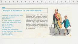 2 Scans Invention Canne Blanche Pour Aveugle Mlle D'Herbemont Alphabet Homme Préhistorique Caverne Peinture Rupestre PF1 - Zonder Classificatie