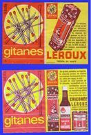 ANCIENNE ETIQUETTE DE BOITE D'ALLUMETTES GITANES -LEROUX 176 X  - ETIQUETTE DE. PAQUET - Matchbox Labels