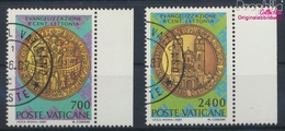 Vatikanstadt 911-912 (kompl.Ausgabe) Gestempelt 1987 Christianisierung Lettlands (9361591 - Vatikan
