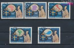 Vatikanstadt 988-992 (kompl.Ausgabe) Gestempelt 1989 Papstreisen (9361608 - Vatikan
