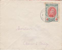 Belgique CROIX ROUGE Lettre Oblitération Postes Militaires 27/1/1916 Pour Pamiers Ariège France - Enveloppe 1 - 1914-1915 Red Cross