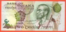 GHANA - 2 Cédis  Du  02 01 1978  - Pick 14c - Ghana