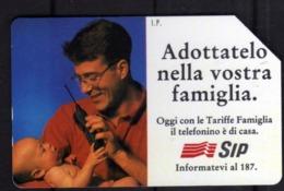 ITALIA ITALY SCHEDA TELEFONICA CARTA DI CREDITO SIP ALLE POSTE CHIEDI DI ME USATA USED LIRE 10000 - Italie