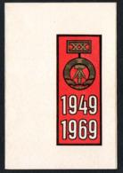 C9451 - Ilmenau Kulturhaus - 20 Jahre DDR Jubiläum - Propaganda Programm Eintrittskarte 1969 - Ereignisse