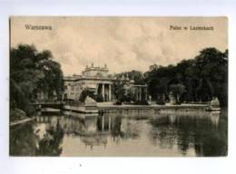 150508 POLAND Warsaw Lazienky Palace Vintage Postcard - Poland