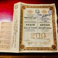 Banque  De  Commerce  Privée  De  St- PÉTERSBOURG ------Actions  De  200  Roubles - Russie