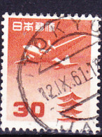 Japan - Flugzeug über Der Horyu-ji-Pagode, Nara (MiNr: 599) 1952 - Gest Used Obl - Posta Aerea