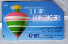 ITALIA ITALY SCHEDA TELEFONICA CARTA DI CREDITO SEAT TROTTOLE SE TI GIRA DI INCURIOSIRE USATA USED LIRE 5000 - Italia