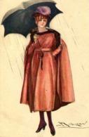 MAUZAN   =  élégante Au Parapluie 1026 - Altre Illustrazioni