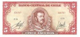 Chile  P-138  5 Escudos 1970-73  UNC - Chili