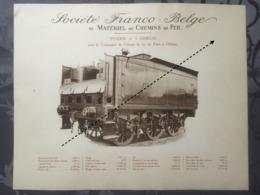 Affiche - Planche Train FRANCO BELGE DE MATERIEL DE CHEMINS DE FER De Paris à Orléans - Spoorweg