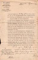 1911 Danzig, Der Präsident Der Königl.Preußischen Oberzolldirektion - Historische Dokumente