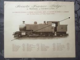 Affiche - Planche Train FRANCO BELGE DE MATERIEL DE CHEMINS DE FER The Assam Railways And Tradind Company Inde - Spoorweg