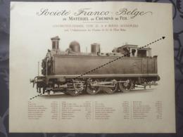 Affiche - Planche Train FRANCO BELGE DE MATERIEL DE CHEMINS DE FER De L'état Belge SNCB - Spoorweg