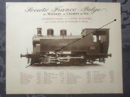 Affiche - Planche Train FRANCO BELGE DE MATERIEL DE CHEMINS DE FER Charbonnages De Maurage - Spoorweg