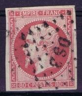 France: Yv 17B  Obl./Gestempelt/used   Cachet DS3 Paris - 1853-1860 Napoleon III