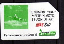 ITALIA ITALY SCHEDA TELEFONICA CARTA DI CREDITO SIP IL NUMERO VERDE METTE IN MOTO I BUONI AFFARI USATA USED LIRE 10000 - Italië