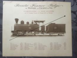 Affiche - Planche Train FRANCO BELGE DE MATERIEL DE CHEMINS DE FER Compagnie Francaise Au Dahomey - Spoorweg