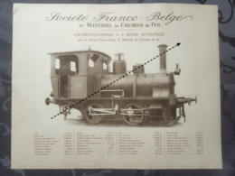 Affiche - Planche Train FRANCO BELGE DE MATERIEL DE CHEMINS DE FER - Spoorweg