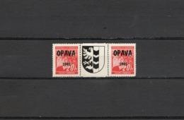 1945 Czechoslovakia Local Liberation Revolutionary Overprints OPAVA Postfrisch - Ongebruikt