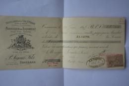 Mandat-1895-distillerie De La Cote Saint Pierre -Segaut Et Fils-specialite Absinthe Et Amer-TONNERRE - Francia