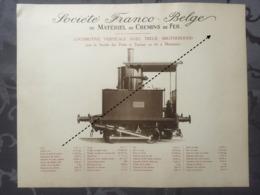 Affiche - Planche Train FRANCO BELGE DE MATERIEL DE CHEMINS DE FER Ponts Et Travaux En Fer De Montataire Oise France - Spoorweg