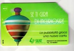 ITALIA ITALY SCHEDA TELEFONICA CARTA DI CREDITO SEAT TROTTOLE SE TI GIRA DI INCURIOSIRE USATA USED LIRE 10000 - Italië