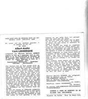 RIJKSWACHTER A.VAN LERBERGHE °TIELT 1915+1972 WAREGEM (M.HERMAN) - Images Religieuses