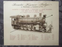 Affiche - Planche Train FRANCO BELGE DE MATERIEL DE CHEMINS DE FER Du Bas Congo Au Katanga BCK - Spoorweg