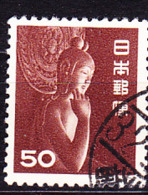 Japan - Oberteil Des Sitzenden Nyoirin Kannon, (MiNr: 584) 1952 - Gest Used Obl - 1926-89 Emperor Hirohito (Showa Era)
