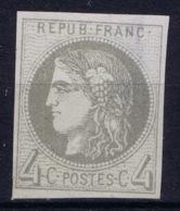 France: Bordeaux 41 B Gomme Partielle  Part Gum  Damage Avec Dommage - 1870 Uitgave Van Bordeaux