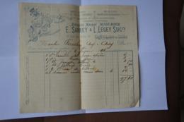 Petite Facture-1894-E.Sarrey Et L.Legey-Chatillon Sur Seine-ancienne Maison Minot-Royer-mercerie Bonneterie - 1800 – 1899