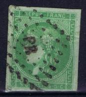 France: Bordeaux 42 A Pas De Ligne Blanche Derriere La Tete Right Top Light Fold Cachet PR - 1870 Uitgave Van Bordeaux