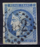 France: Bordeaux 45 A Type II Rep 1 No Shading Under Eye Nice Borders - 1870 Bordeaux Printing