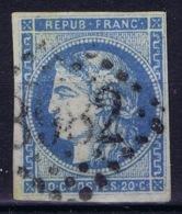 France: Bordeaux 45 A Type II Rep 1 No Shading Under Eye Nice Borders - 1870 Ausgabe Bordeaux