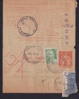 France1947VoyagéCarte Pneumatique Paris Rapp - Altri