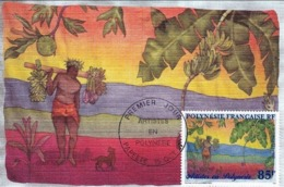Polynésie 4 Cartes Max 15/10/97 Artistes En Polynésie Y&T 549/552, 4 Scans - Storia Postale