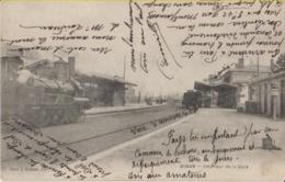 22 Dinan La Gare Avec Une Locomotive Et Cachet Magasin Lunot La Belle Jardinière Place Duclos -s45 - Dinan