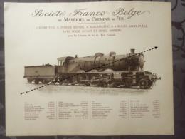 Affiche - Planche Train FRANCO BELGE DE MATERIEL DE CHEMINS DE FER De L'état Francais SNCF - Spoorweg