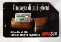 ITALIA ITALY SCHEDA TELEFONICA CARTA DI CREDITO SIP COMPAGNA DI TUTTI I GIORNI USATA USED LIRE 10000 - Italië