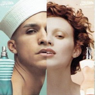 "Carte à Rabat 5 X 5 Jean-Paul GAULTIER  ""LE MALE""  & ""CLASSIQUE"" - Perfume Card USA 2003 - Modern (from 1961)"