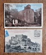 2 Cartes Postales Anciennes DRÔME : Château De Grigan / Chapelle ND Des Aubagnans à Rochegude - France