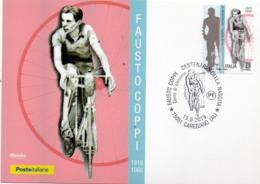 2019 Italia - 100° Nascita Di Fausto Coppi - Card FDC - Ciclismo