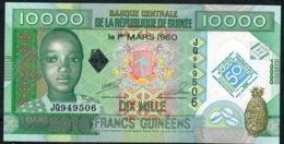 GUINEA P45 10000  Or 10.000 FRANCS 2010 #JQ  UNC. - Guinee