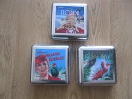 3 Mooie Blikken 'boterhammen'doosjes. In Prima Staat. Martinair Vliegtuig Avion Airplane Airhostess - Cadeaux Promotionnels
