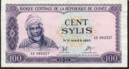 GUINEA P19 100 SYLIS 1971 #AH    AU-UNC - Guinee