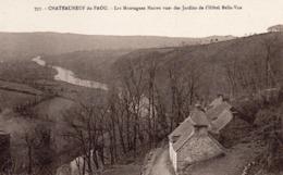 CHÂTEAUNEUF DU FAOU  29, LES MONTAGNES NOIRES VUE DES JARDINS DE L'HÔTEL BELLE-VUE - Châteauneuf-du-Faou